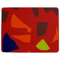 Red Abstraction Jigsaw Puzzle Photo Stand (rectangular) by Valentinaart