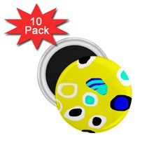 Yellow Abstract Pattern 1 75  Magnets (10 Pack)  by Valentinaart