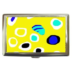 Yellow Abstract Pattern Cigarette Money Cases by Valentinaart