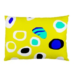Yellow Abstract Pattern Pillow Case by Valentinaart