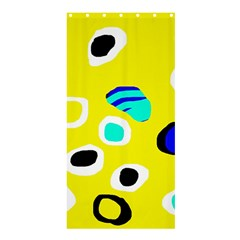 Yellow Abstract Pattern Shower Curtain 36  X 72  (stall)  by Valentinaart