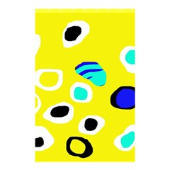 Yellow Abstract Pattern Shower Curtain 48  X 72  (small)  by Valentinaart