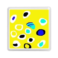 Yellow Abstract Pattern Memory Card Reader (square)  by Valentinaart