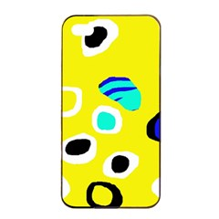 Yellow Abstract Pattern Apple Iphone 4/4s Seamless Case (black) by Valentinaart