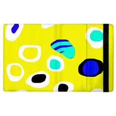 Yellow Abstract Pattern Apple Ipad 2 Flip Case