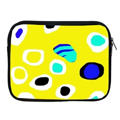Yellow Abstract Pattern Apple Ipad 2/3/4 Zipper Cases by Valentinaart