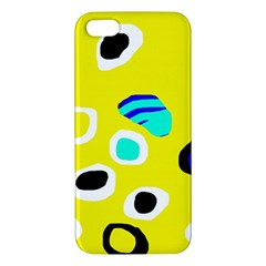 Yellow Abstract Pattern Iphone 5s/ Se Premium Hardshell Case by Valentinaart