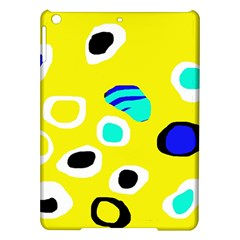 Yellow Abstract Pattern Ipad Air Hardshell Cases by Valentinaart