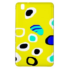 Yellow Abstract Pattern Samsung Galaxy Tab Pro 8 4 Hardshell Case by Valentinaart