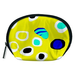 Yellow abstract pattern Accessory Pouches (Medium)  by Valentinaart