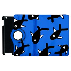 Cute Fishes Apple Ipad 2 Flip 360 Case by Valentinaart