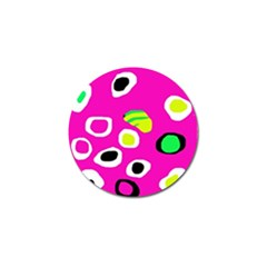 Pink Abstract Pattern Golf Ball Marker by Valentinaart
