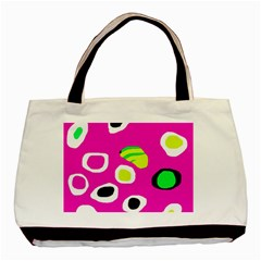 Pink Abstract Pattern Basic Tote Bag by Valentinaart