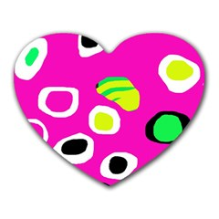 Pink Abstract Pattern Heart Mousepads by Valentinaart
