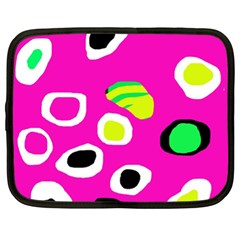 Pink Abstract Pattern Netbook Case (xl)  by Valentinaart