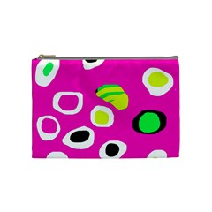 Pink Abstract Pattern Cosmetic Bag (medium)  by Valentinaart