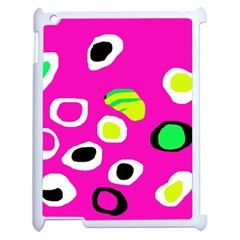 Pink Abstract Pattern Apple Ipad 2 Case (white) by Valentinaart