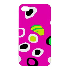 Pink Abstract Pattern Apple Iphone 4/4s Hardshell Case by Valentinaart