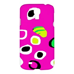 Pink Abstract Pattern Samsung Galaxy S4 I9500/i9505 Hardshell Case by Valentinaart