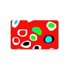 Red abstract pattern Magnet (Name Card) by Valentinaart