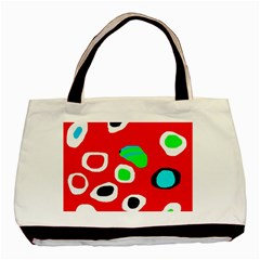 Red Abstract Pattern Basic Tote Bag by Valentinaart