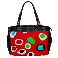 Red Abstract Pattern Office Handbags by Valentinaart