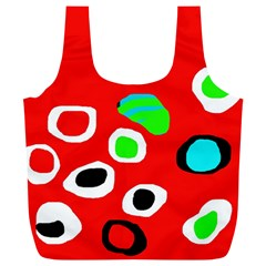 Red Abstract Pattern Full Print Recycle Bags (l)  by Valentinaart