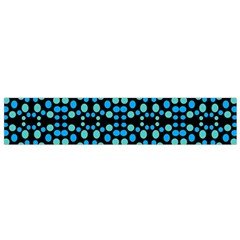 Dots Pattern Turquoise Blue Flano Scarf (small) by BrightVibesDesign