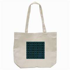 Dots Pattern Turquoise Blue Tote Bag (cream) by BrightVibesDesign