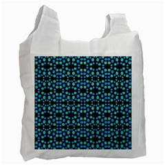 Dots Pattern Turquoise Blue Recycle Bag (two Side)  by BrightVibesDesign