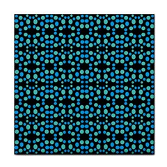 Dots Pattern Turquoise Blue Tile Coasters by BrightVibesDesign
