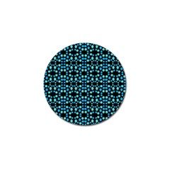 Dots Pattern Turquoise Blue Golf Ball Marker (10 Pack) by BrightVibesDesign