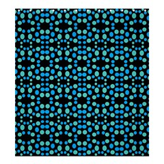 Dots Pattern Turquoise Blue Shower Curtain 66  X 72  (large)  by BrightVibesDesign