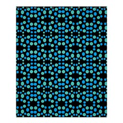 Dots Pattern Turquoise Blue Shower Curtain 60  X 72  (medium)  by BrightVibesDesign