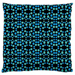 Dots Pattern Turquoise Blue Standard Flano Cushion Case (one Side) by BrightVibesDesign