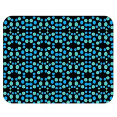 Dots Pattern Turquoise Blue Double Sided Flano Blanket (medium)  by BrightVibesDesign
