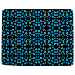 Dots Pattern Turquoise Blue Jigsaw Puzzle Photo Stand (rectangular) by BrightVibesDesign