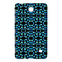 Dots Pattern Turquoise Blue Samsung Galaxy Tab 4 (8 ) Hardshell Case  by BrightVibesDesign