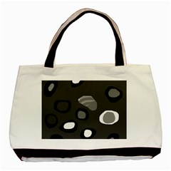 Gray Abstract Pattern Basic Tote Bag by Valentinaart