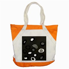 Gray Abstract Pattern Accent Tote Bag by Valentinaart