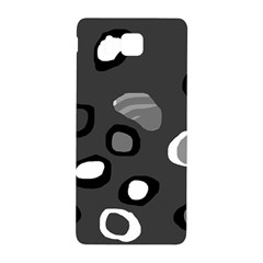 Gray abstract pattern Samsung Galaxy Alpha Hardshell Back Case by Valentinaart