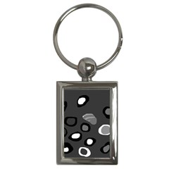 Gray Abstract Pattern Key Chains (rectangle)  by Valentinaart