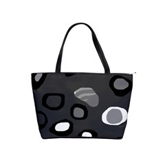 Gray Abstract Pattern Shoulder Handbags by Valentinaart
