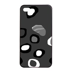 Gray Abstract Pattern Apple Iphone 4/4s Seamless Case (black) by Valentinaart