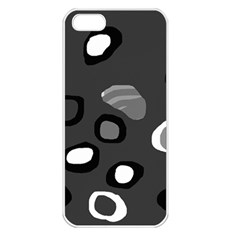 Gray Abstract Pattern Apple Iphone 5 Seamless Case (white) by Valentinaart