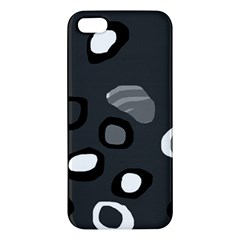 Gray Abstract Pattern Apple Iphone 5 Premium Hardshell Case by Valentinaart