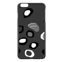Gray Abstract Pattern Apple Iphone 6 Plus/6s Plus Black Enamel Case by Valentinaart