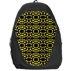 Dots Pattern Yellow Backpack Bag by BrightVibesDesign
