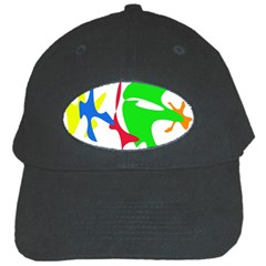 Colorful Amoeba Abstraction Black Cap by Valentinaart
