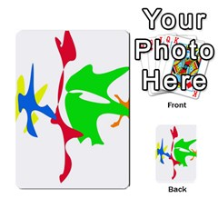 Colorful Amoeba Abstraction Multi Purpose Cards (rectangle)  by Valentinaart